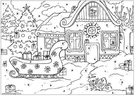 Christmas Tree With Presents Coloring Page 54
