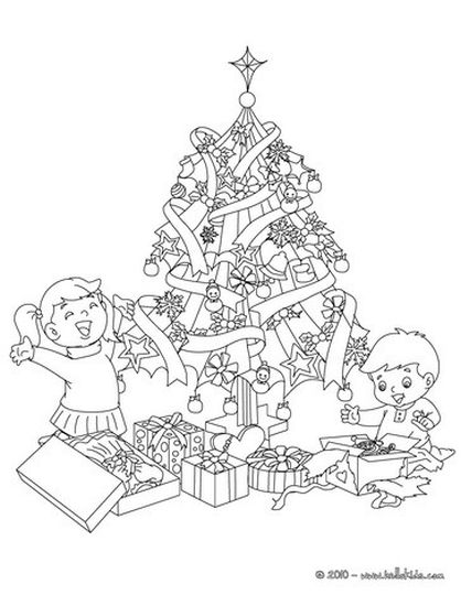 Christmas Tree With Presents Coloring Page 55