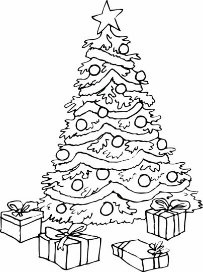 Christmas Tree With Presents Coloring Page 56