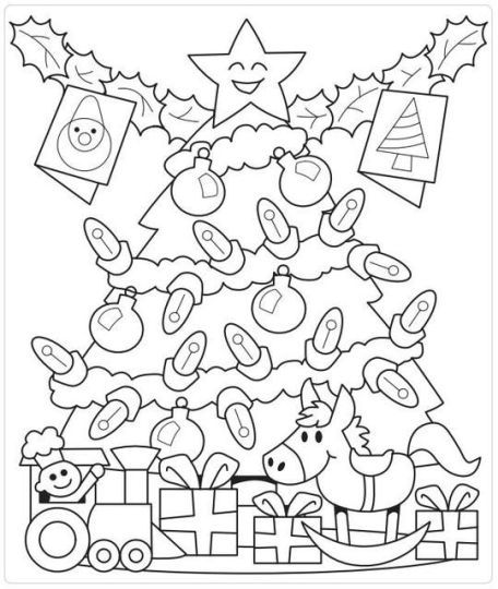Christmas Tree With Presents Coloring Page 57