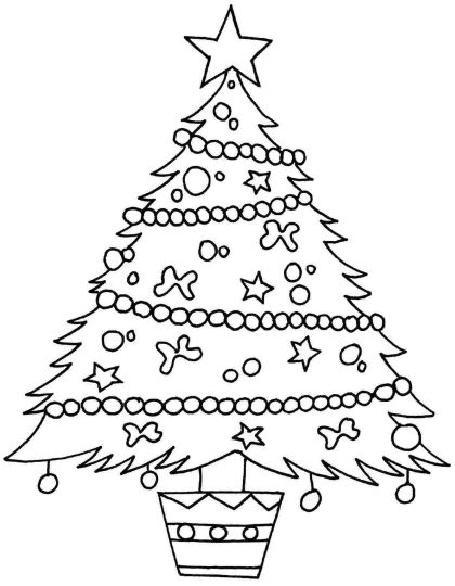 Christmas Tree With Presents Coloring Page 59