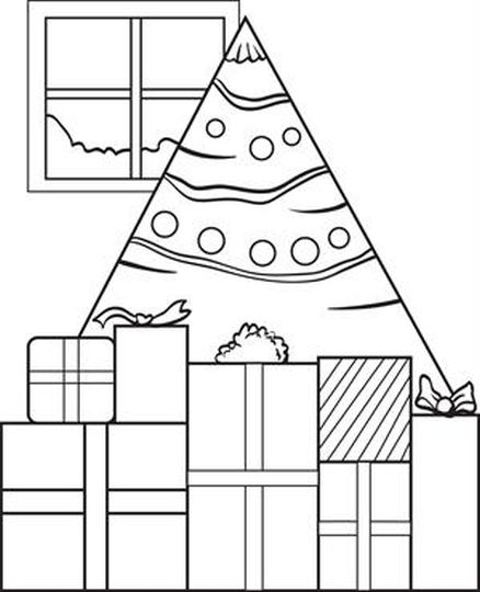 Christmas Tree With Presents Coloring Page 60