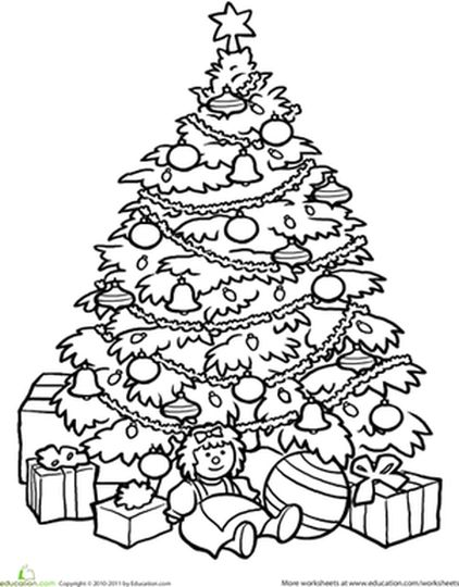Christmas Tree With Presents Coloring Page 61