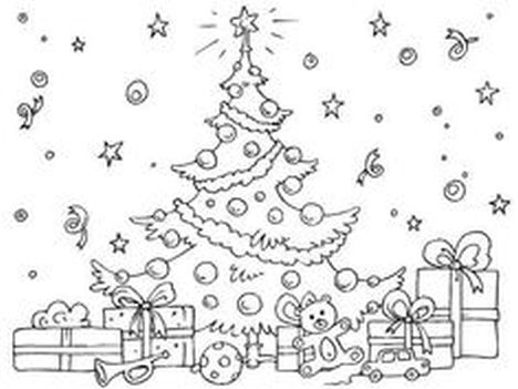 Christmas Tree With Presents Coloring Page 62