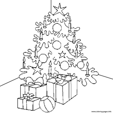 Christmas Tree With Presents Coloring Page 65