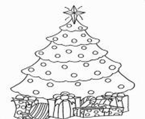 Christmas Tree With Presents Coloring Page 66