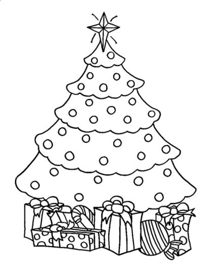 Christmas Tree With Presents Coloring Page 68