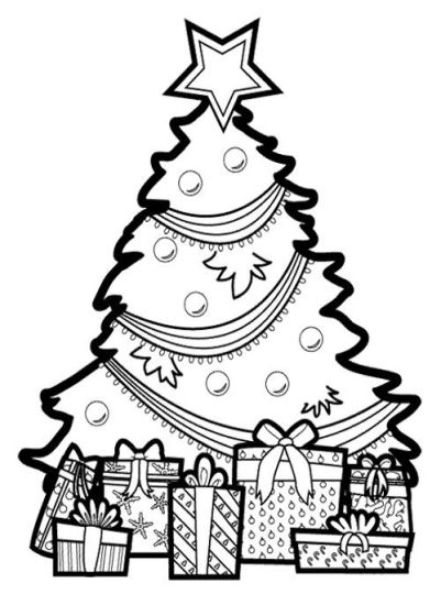 Christmas Tree With Presents Coloring Page 69