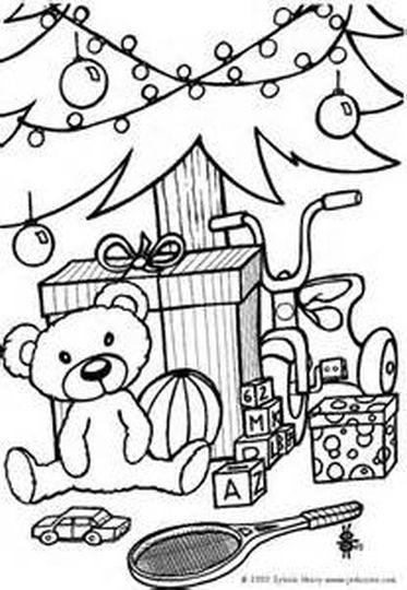 Christmas Tree With Presents Coloring Page 70