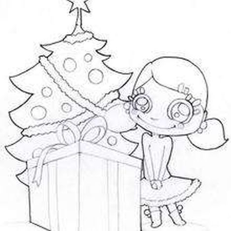 Christmas Tree With Presents Coloring Page 9