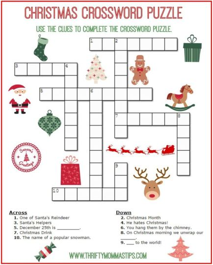Christmas wordsearch for kids part 1