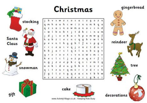 Christmas wordsearch for kids 13