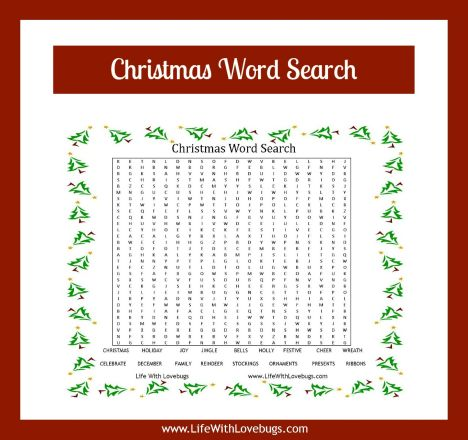 Christmas wordsearch for kids 15