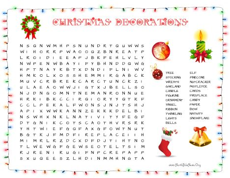 Christmas wordsearch for kids 20