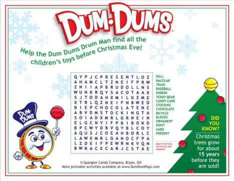 Christmas wordsearch for kids 26