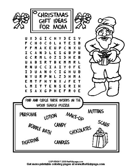 Christmas wordsearch for kids 37