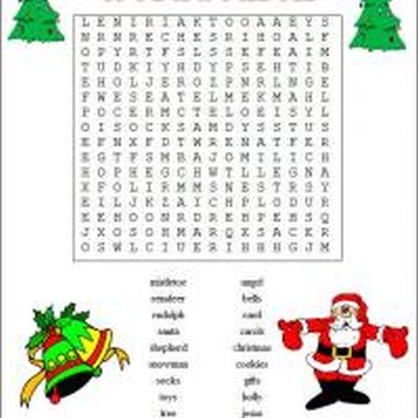 Christmas wordsearch for kids 41