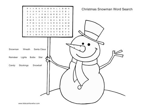 Christmas wordsearch for kids 46