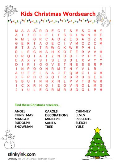 Christmas wordsearch for kids 52