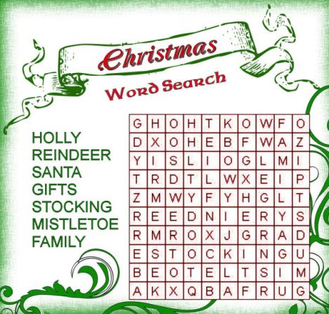 Christmas wordsearch for kids 60