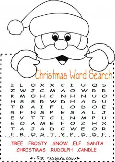 Christmas wordsearch for kids part 7