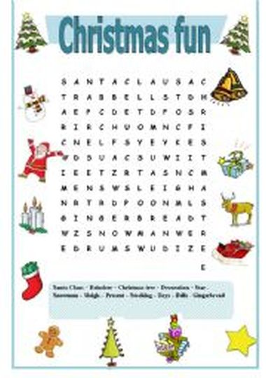 Christmas wordsearch for kids 69