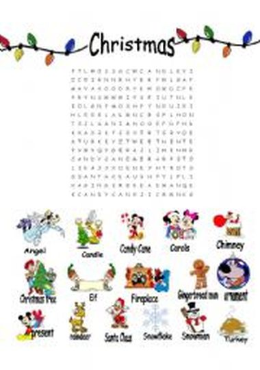 Christmas wordsearch for kids 71