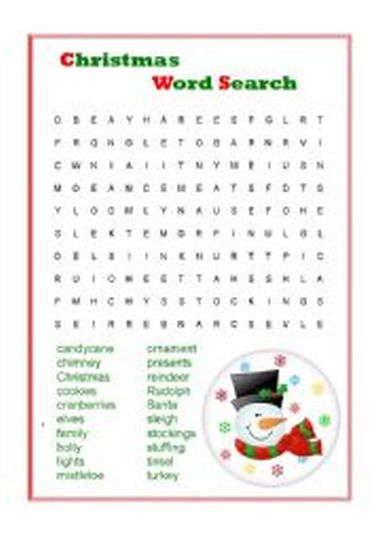 Christmas wordsearch for kids 72