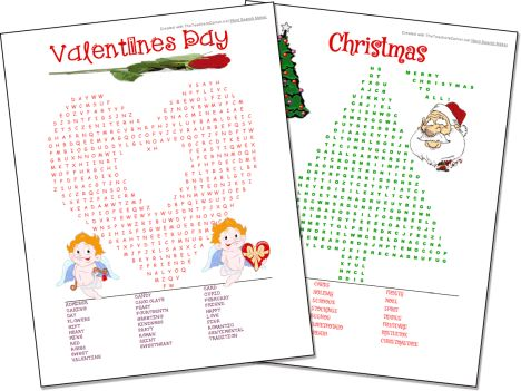 Christmas wordsearch for kids 75