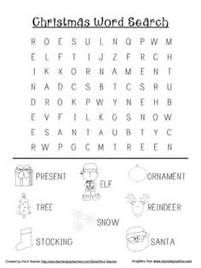 Christmas wordsearch for kids 82
