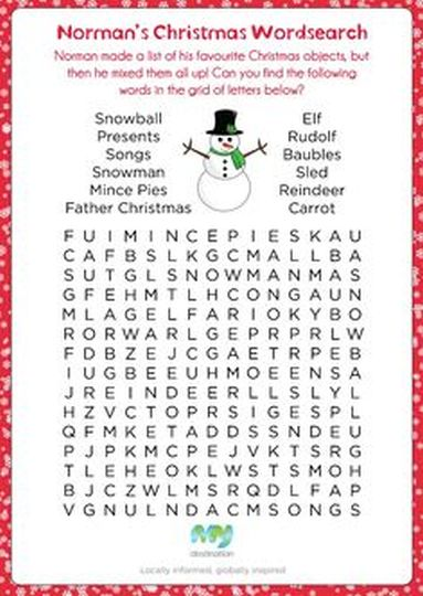 Christmas wordsearch for kids 85