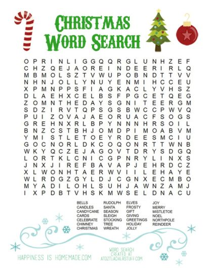 Christmas wordsearch for kids 87