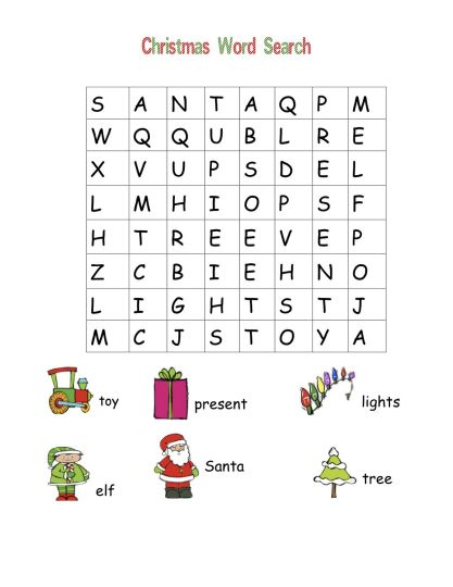 Christmas wordsearch for kids 91