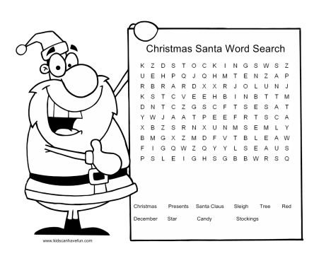 Christmas wordsearch for kids 94