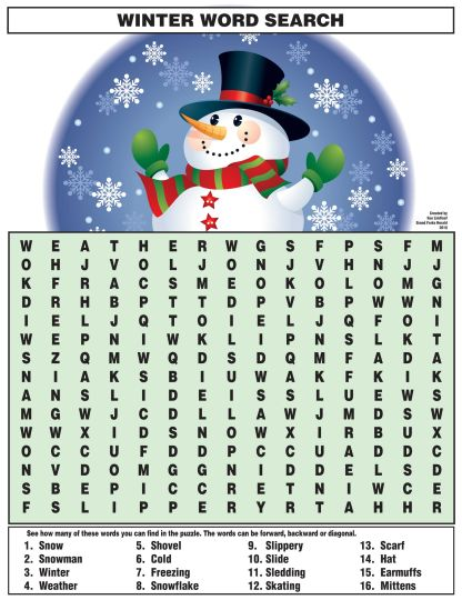 Christmas wordsearch for kids 97