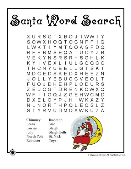 Christmas wordsearch for kids 99