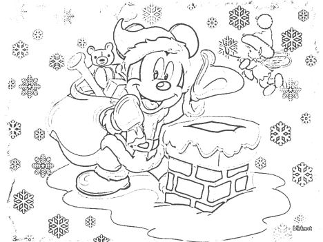 Disney Christmas Coloring Pages Free Printable 1