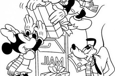 Disney Christmas Coloring Pages Free Printable 13