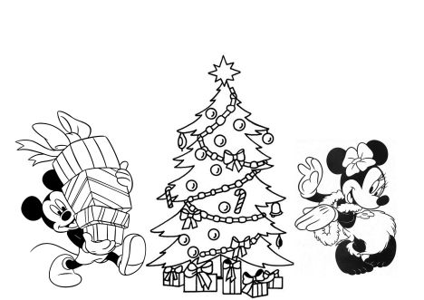 Disney Christmas Coloring Pages Free Printable 14