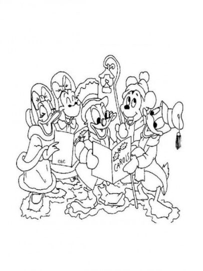 Disney Christmas Coloring Pages Free Printable 18