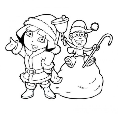 Disney Christmas Coloring Pages Free Printable 19