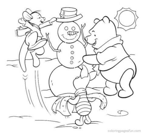 Disney Christmas Coloring Pages Free Printable 30