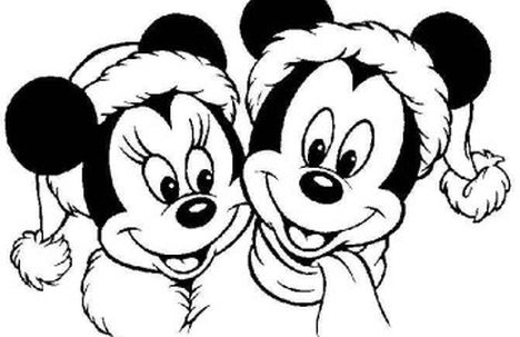 Disney Christmas Coloring Pages Free Printable part 4