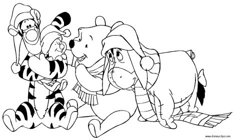 Disney Christmas Coloring Pages Free Printable 36