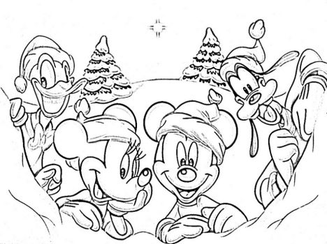 Disney Christmas Coloring Pages Free Printable 38
