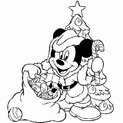 Disney Christmas Coloring Pages Free Printable 50