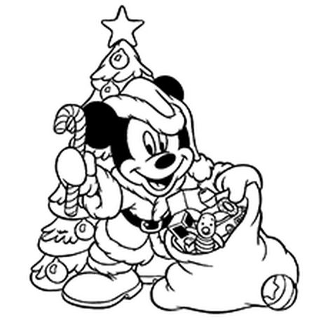 Disney Christmas Coloring Pages Free Printable 57