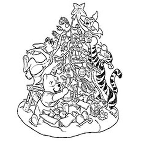 Disney Christmas Coloring Pages Free Printable 58