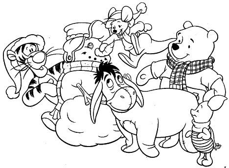 Disney Christmas Coloring Pages Free Printable 59