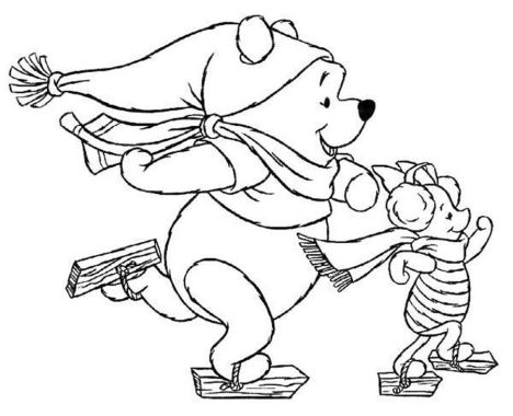Disney Christmas Coloring Pages Free Printable 60